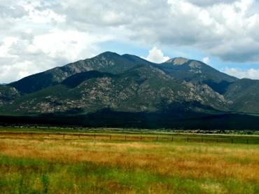 Taos Mountain Over High Grass Meadow
